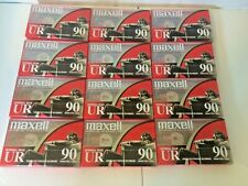 New listing New Sealed Maxell - Ur90 Normal Bias 12 90 Minute Audio Cassette Tapes Unopened