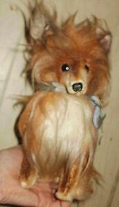 Vintage 1968 KAMAR JAPAN Stuffed Sheltie toy dog, must see!