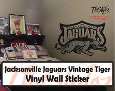 Jacksonville Jaguars Vintage Tiger Custom Vinyl Wall Sticker