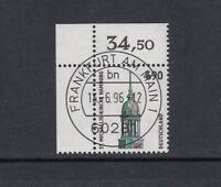 BRD Mi-Nr. 1860 zentrisch gestempelt Ersttag - Bogenrand / Eckrand / Ecke 1