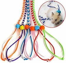 Zittop 1 Pair Small Animal Leash Lead Harness Rope Hamster Rat Mouse Adjustab.