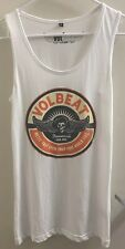 Volbeat Est 2001 Ladies White Tank Top-New Official Band Merch-Let's Boogie Tour