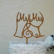 Mr & Mrs Wedding Cake Topper, wooden Cake Decor, Wood. Australian Made D11