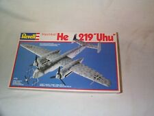 """1/72-Revell/Germany- Heinkel He 219 """"Uhu"""" New in box -some parts off trees."""