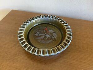 Wade Irish Porcelain Hunting Scene Dish Bowl Ashtray Shamrock Made in Ireland