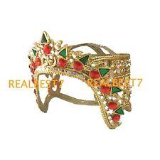 Spiky Heand Band Crown Srivichai Th Dancer W/Gems Jeweled & Gold Leaf CLA213