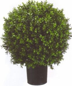 """ARTIFICIAL 24"""" OUTDOOR UV RATED BOXWOOD TOPIARY TREE 2' BUSH BALL PATIO 4 3 5 6"""