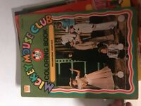 Vintage Mickey Mouse Club Coloring Book Mouseketeer Madcaps WHITMAN 1977