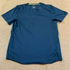 Brooks Steady Drilayer men's short sleeved running t shirt in blue - small size