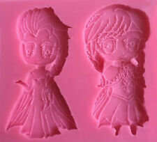 Elsa & Anna Frozen Silicone Mold for Fondant, Gum Paste, Chocolate , Crafts NEW