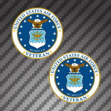 "2x United States Air Force Veteran 3"" Car Bumper Window Decal Sticker Military"