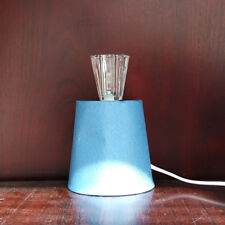 Small Table Lamp Contemporary Home Lighting in Blue & Clear CLEARANCE Litecraft