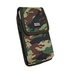 For Sonim XP8 , XP7 Heavy Duty Holster Nylon Canvas Carry Case Metal Clip Pouch