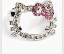 Hello Kitty Silhouette Ring by Sanrio Outlined With Pink Sz 7