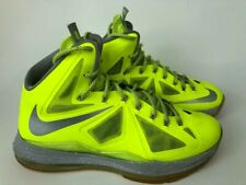 Nike LeBron 10- Mens- Size 10- Volt- Yellow Green- [541100 700]- Basketball Shoe