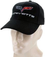 Corvette C6 Black Baseball Cap Trucker Hat Snapback Stingray Flags Racing Logo
