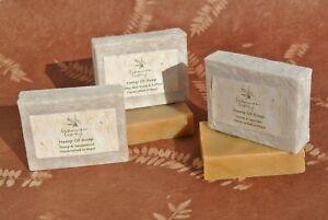 Hemp Soap Bar handmade . Cold Pressed Hemp Oil. Bath Soap . Body Soap . Natural