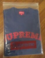 Supreme Plaid Applique S/S Top Size Medium Royal FW20 Supreme New York FW20KN86