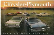 1973 Chrysler 34-page Car Sales Brochure - Newport New Yorker Imperial Plymouth