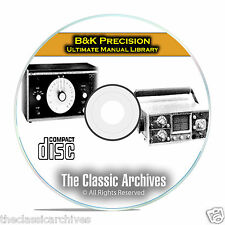 B&K Precision Instruction Manual Library, 411 Manuals on PDF CD C09