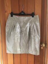 love label gold tulip skirt 16 10 bnwt metallic gold linen mix