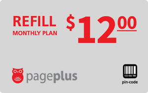PagePlus  Prepaid $12 Refill Top-Up 500 Minutes Prepaid Card ,PIN / RECHARGE