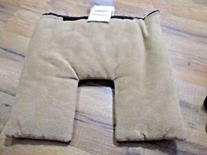 Infant Headrest Insert /  Light Brown Suede Look / Easy Clean / EUC