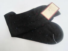 COLE HAAN BLACK SOCKS  SIZE  10-13 COTTON MADE IN ITALY NWT