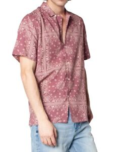 Zeegeewhy Men's Bandana-Print Button-Down Casual Shirt, Pink, Size L, $79, NwT