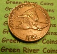 1858 Flying Eagle  Cent  Coin  #MQ58-LL  Large Letter Better Grade