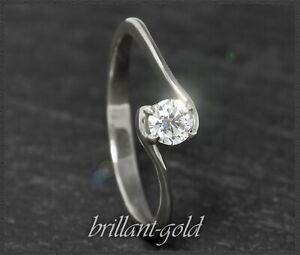 Antragsring Verlobungsring 585er Gold Solitär Diamantring Brillantring  18012