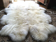 Fur Cover Lambskin 4 Natural White Sheepskin Rug Fireplace Fur Real Fur Wagon