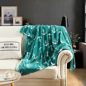 Fleece Throw Blanket Lap Throw Blanket, 50 x 60  Anchor