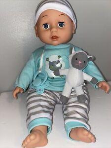 Gi-Go Baby Doll Blue Eyes Lamb Clothing