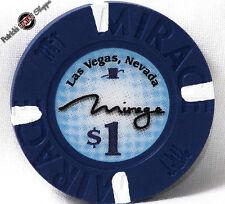 One Dollar Poker Gaming Chip The Mirage Hotel Casino Las Vegas Nevada 2009
