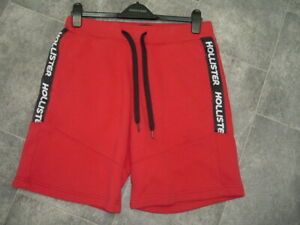 SIZE S HOLLISTER MENS RED JERSEY SHORTS