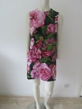 New Dolce & Gabbana Floral Rose Print Dress - Size 42 Italy