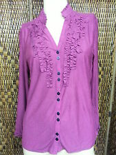 Unbranded Striped Ruffle Shirts for Women