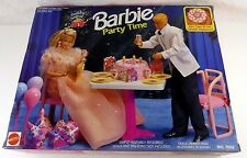 NEW 1992 Mattel Barbie Birthday Party Surprise Party Time Playset #7552 Dining