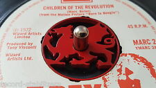 Stainless steel painted Welsh dragon 45 rpm record adaptor