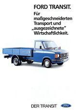 1013FO Ford Transit Prospekt 1984 11/84 deutsche Ausgabe Transporter brochure