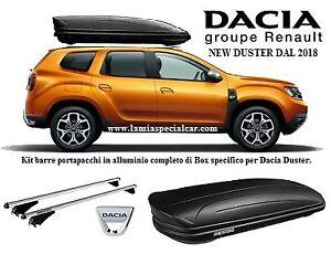 Tradizionali XONE ACCESSORI SRL MENABO Barre PORTATUTTO Portapacchi Dacia Duster III dal 2018 in Poi con Railing CORRIMANO