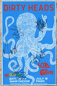 The Dirty Heads autographed gig poster Jared Watson, Dustin Bushnell