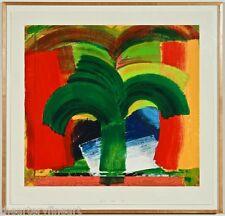 HOWARD HODGKIN 'In Tangier', 1991 SIGNED 22-Color Silkscreen Print #68/72 Framed