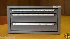 HUOT 13595 DISPENSER METRIC TAPS, DRILLS AND DIES ORGANIZER CABINET -