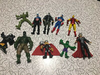 Marvel Avengers Lot of 10 Action Figures Loose - Captain America Ironman Hulk