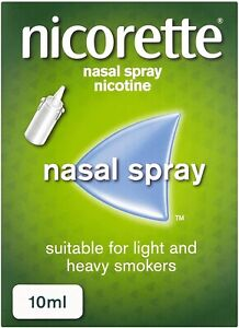 4 X Boxes Nicorette Nasal Spray 10ml