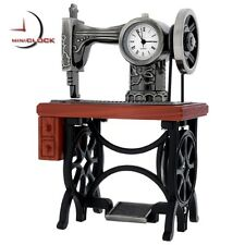 TREADLE SEWING MACHINE MINIATURE VINTAGE STYLE COLLECTIBLE MINI CLOCK GIFT IDEA