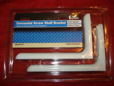 (2 SETS) NIP Anvil Mark White Concealed Screw Shelf Brackets