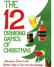 The 12 Drinking Games of Christmas Adult Holiday Party Game Xmas New Year's Eve